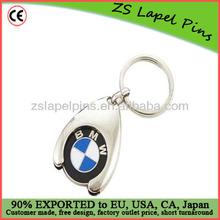 car logo metal trolley coins keyring/ car logo keyring