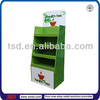 TSD-C409 custom design retail store floor cardboard tea bag display shelf/template cardboard display box/health tea display case