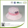 BSCI colored dots promotional cotton embroidered free pattern children bucket hat