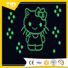 Custom glow in the dark film designs luminousness paper with adhesive self