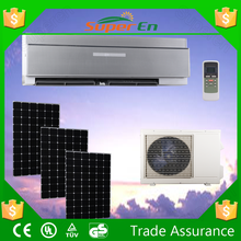 gas r410a,1ton 12000btu 24v cooling&heating wall mounted hybrid solar powered air conditioner