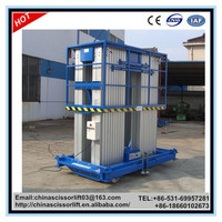 200kg electric mobile aerial work man lift/trailer telescopic manlift