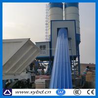 Hot sale belt conveyor stationary concrete batching plant hzs75