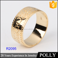Wholesale fashion 18K new gold ring models for men without stone model