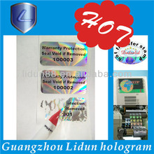 The hologram label \ holographic stickers