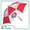 30-inch red and white windproof promotional golf umbrella outdoor