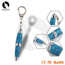 Portable type mini ballpoint pen with key chain