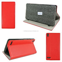 hot selling classical leather case for Huawei Ascend P6 cover