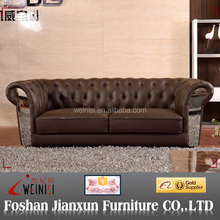 J1298 italian leather sofa chesterfield leather sofa brown leather sofa