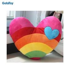 New design custom cute stuffed plush toy soft rainbow pillow