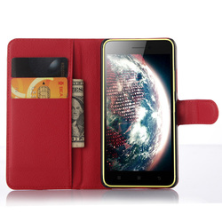 Leather Wallet Case Leather Flip Book Case For Lenovo S60/S60 T