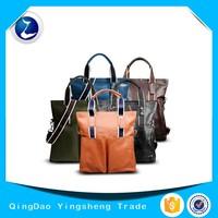 Men's Genuine Leather Business Briefcase & Messenger Tote bag