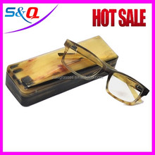 100% natural polarized Buffalo horn rimmed sunglasses with case