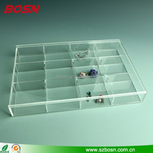 Square Acrylic Cosmetic/ Jewelry Organizer (Clear, 12 Compartment Organizer w/Lid)