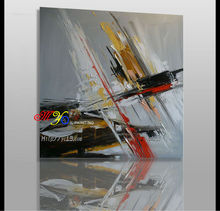 fashion modern hand painted simple abstract musical styles canvas oil painting