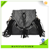 teens style soft leather cool backpack with tassel