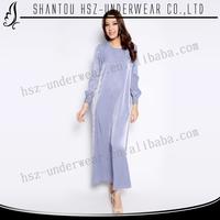MD A025 Fantastic muslim long sleeves maxi abaya pictures High quality muslim denim maxi abaya Wholesale muslim beautiful abaya