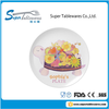 lovely wholesale plastic plate with cartoon pattern