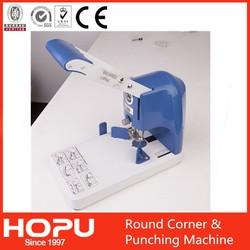 office heavy duty punching & cutting round corner machine