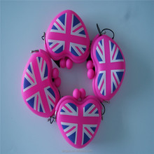 Silicone candy coin purse UK flag gifts