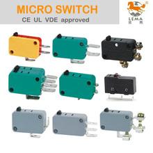 LEMA UL VDE 125V 250V AC 8A 10A 15A 16A microinterruptor eléctrico