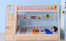 China factory cheap heavy duty wood Strong dormitory military double bunk bed