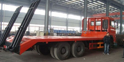 Cheaper Dongfeng DFL1250 6x4 falt bed transport truck for machinery