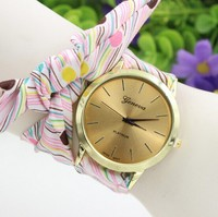 New Style Women Watch 2015 New Fashion Trendy Casual Watch Braid Multicolor Quartz Watch Vintage Ethnic Wristwatch Cheap