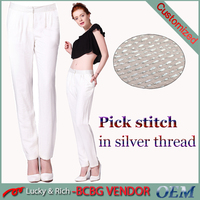 Factory sale casual fashion ladies trouser cutting