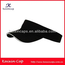 black sandwich 100 cotton custom high quality promotional sun visor hat and cap