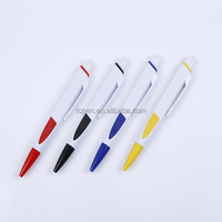 plastic promotion advertising pen in stock with custom logo