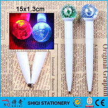 light shinning liquid fashion gift ballpoint pen