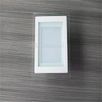 12W square glass LED Recessed ceiling light SMD5730 24pcs Led panel light