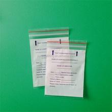 Plastic medical zipper bag