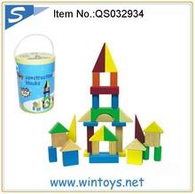 100pcs educational geometric brick toy Children wooden blocks