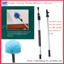 Aluminum Telescopic pole ,roof cleaning brush,ceiling cleaning tool,window cleaning brush,corner cleaning brush