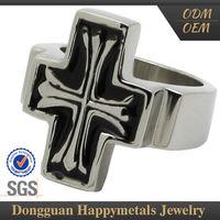 100% Warranty Stainless Steel Letter M Ring