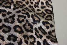 Wholesale supplier of metallic leopard PU leather in China