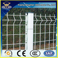 2015 best selling cheap powder coated curved mesh security fence panels