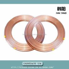 copper tube 2mm 9.52*0.56 , r410a copper tube 9.52*0.56 , 3/8 inch air condition copper tube/insulated copper 9.52*0.56