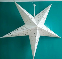 hot sale hanging paper star for Christmas decoration