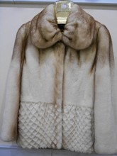 Natural White mink fur coat ,Winter mink fur coats , women mink fur coats