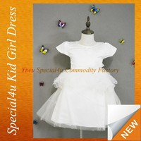 Free shipping low minimum girls puffy dresses for kids cheap SPF-005I