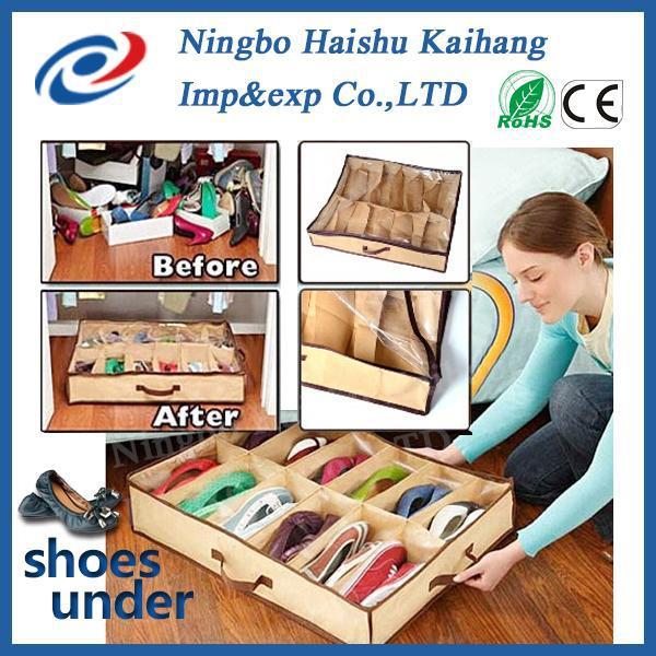 2014 магия под кроватью чистка организатор / обуви ящик для хранения / обуви хранения