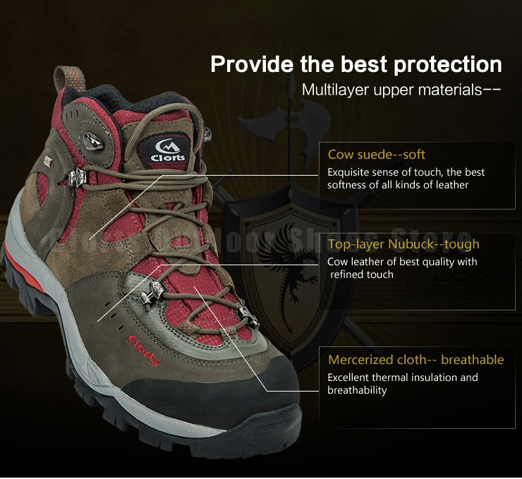 Clorts Athletic Shoes Outdoor Hiking Boots  Lover's Style Waterproof C