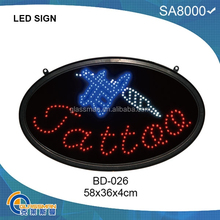 outdoor oval led open sign BD-026