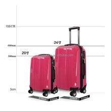2 piece set luggage bag hard trolley case pc suitcase