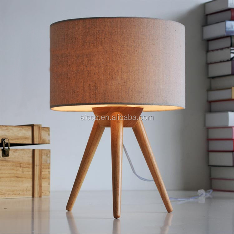 christmas ornaments new product modern tripod natural wooden table lamp buy modern table lamp. Black Bedroom Furniture Sets. Home Design Ideas