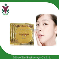 FEDEX FREE Shipping to US 400pcs /lot 24k gold collagen crystal face mask, pure gold collagen face mask,gold face mask