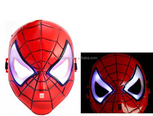 LED Shiny Spider Man Cosplay Glowing Spiderman Mask Kids Toy Masquerade Party Mask QMAK-2007